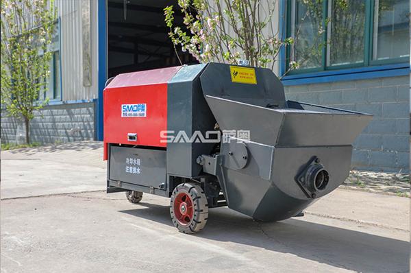 7.5kw卧式手推混凝土浇筑泵