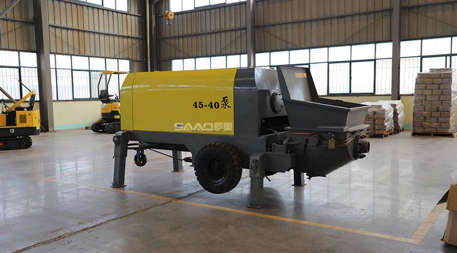 40混凝土输送泵施工反馈